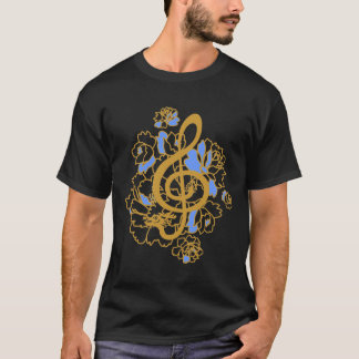 Dragon Treble Clef  Peonies Music Custom  Shirt