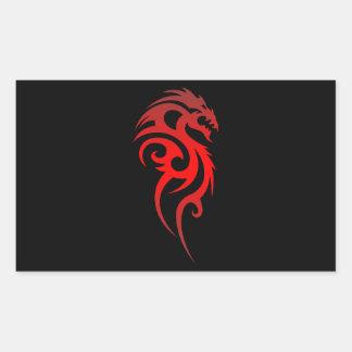 Dragon Tribal Symbol Rectangular Sticker