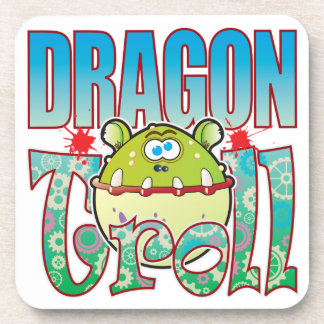 Dragon Troll Beverage Coasters