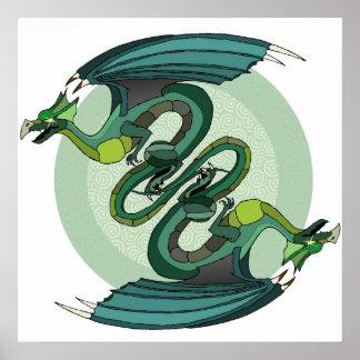 Dragon Twist Canvas Print