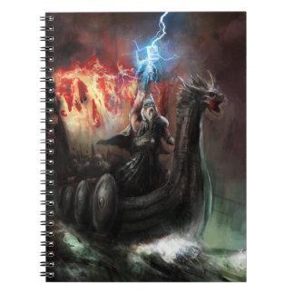 Dragon Viking Ship Notebook
