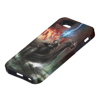 Dragon Viking Ship Tough iPhone SE Case