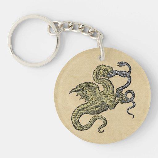 Dragon vs Snake Key Chains