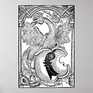 ◊ Dragon Wall Art - the Basilisk Poster