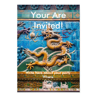 Dragon Wall Magnetic Invitations