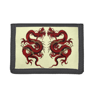 Dragon wallet - MMA red double dragon design