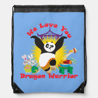 Dragon Warrior Love Drawstring Bag