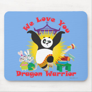 Dragon Warrior Love Mouse Mat