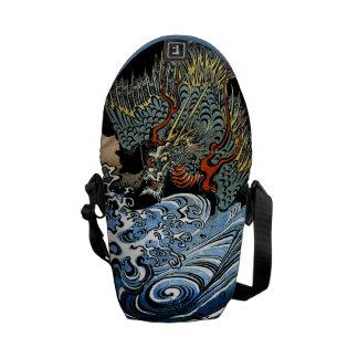 Dragon & Water Spirit Kuniyoshi Japanese Fine Art Courier Bag