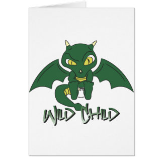 dragon WC green Greeting Cards
