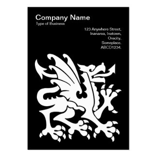 Dragon - White on Black Pack Of Chubby Business Cards