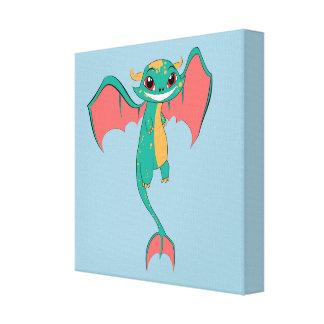 Dragon Wings, Cute Cartoon Canvas Prints