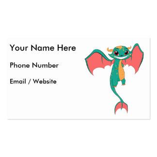 Dragon Wings, Cute Cartoon Pack Of Standard Business Cards