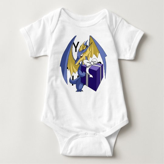 Dragon with a Gift Baby Bodysuit