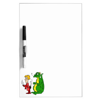 Dragon with Burnt Knight.png Dry-Erase Board