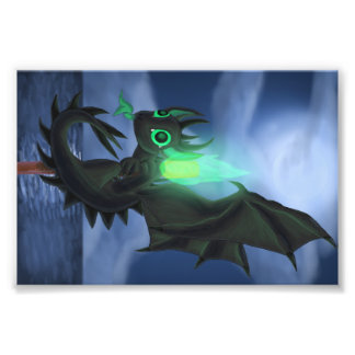 Dragon With Green Fire Photograph