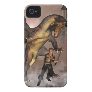 Dragon with his companion 1 iPhone 4 Case-Mate cases