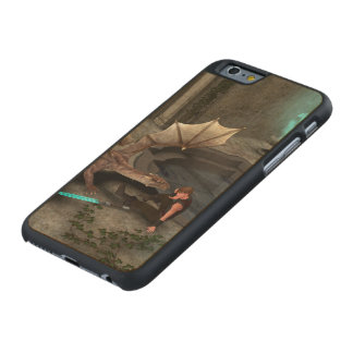 Dragon with his companion carved® maple iPhone 6 case