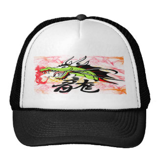 Dragon with Kanji Trucker Hats