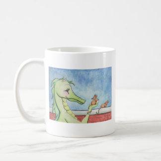 Dragon with Mice Basic White Mug