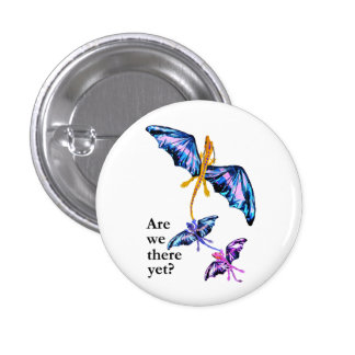 Dragon With Two Kids 3 Cm Round Badge