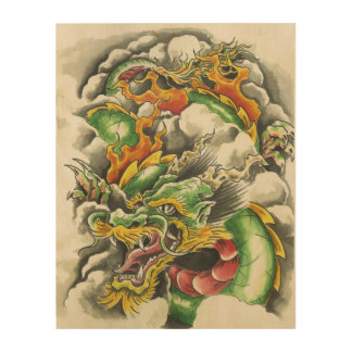 Dragon Wooden Print Wood Canvases