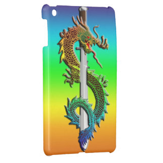 Dragon wrapped around sword case for the iPad mini
