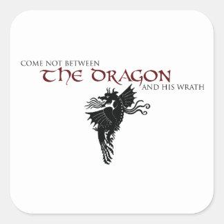 Dragon Wrath Square Sticker