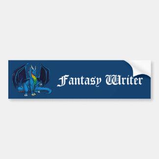 Dragon Writer Bumper Sticker