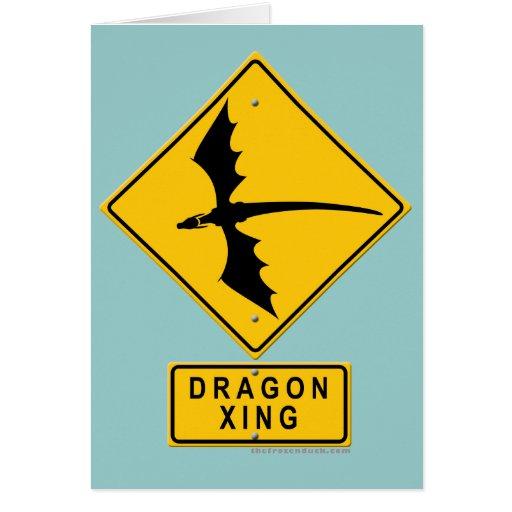 Dragon XING Greeting Card