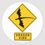 Dragon XING Round Stickers