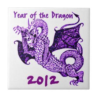 DRAGON YEAR OF THE DRAGON 2012 TILE