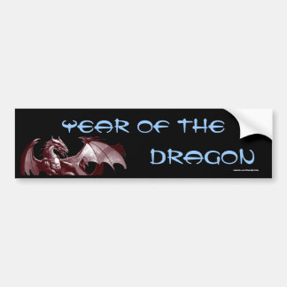 "Dragon ""Year of the Dragon"" Fantasy Bumpersticker Bumper Sticker"