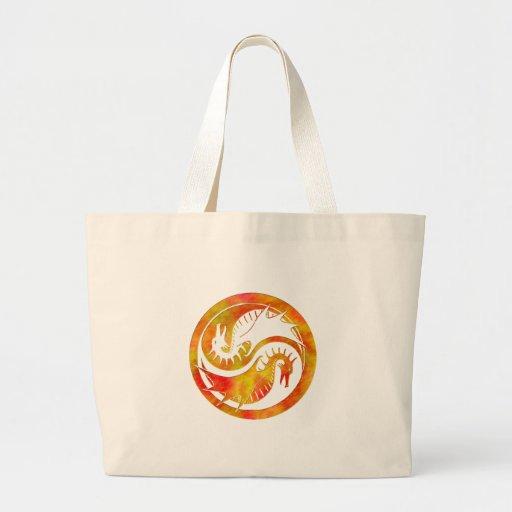 Dragon Yin Yang Jumbo Tote Bag