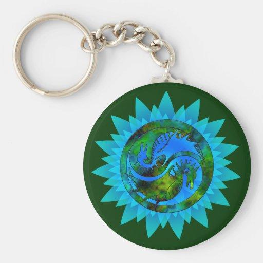 Dragon Yin Yang Key Chains