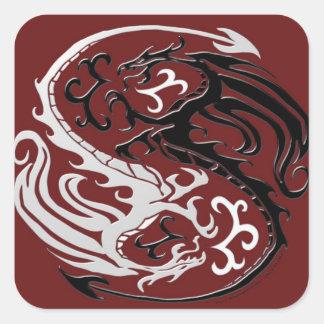 Dragon Yin Yang Sticker