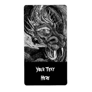 Dragon 'Your Text' label