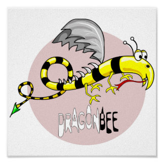 Dragonbee canvas poster
