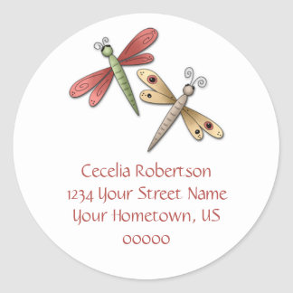 Dragonflies Address Label