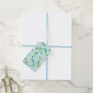 Dragonflies and Flowers Gift Tags
