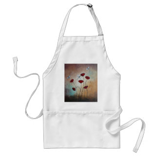 Dragonflies and Poppies Standard Apron