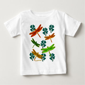 Dragonflies and Shamrocks Baby T-Shirt