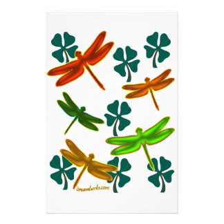 Dragonflies and Shamrocks Stationery