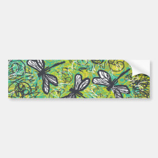 Dragonflies and Swirls, Graphic art Products Bumper Sticker