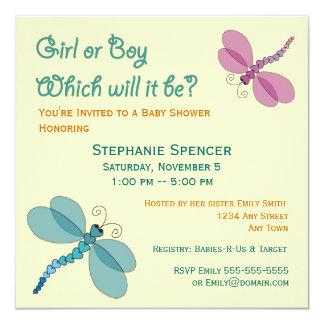 Dragonflies Baby Shower Invitation