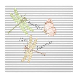 Dragonflies Dreamer Stretched Canvas Prints