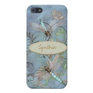 Dragonflies Floral Flourish Colour Changing base iPhone 5/5S Cover