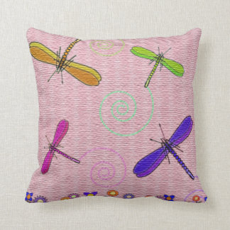 Dragonflies & Flowers Cushion