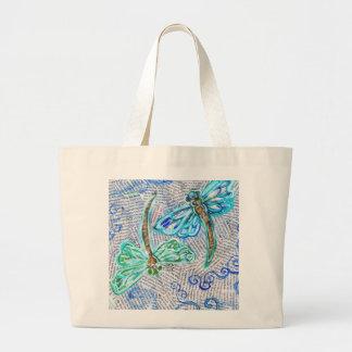 Dragonflies Large Tote Bag