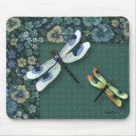 Dragonflies Mousepad (Pansies)